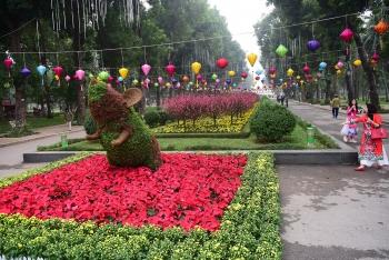 12 con giáp làm bằng cây hoa