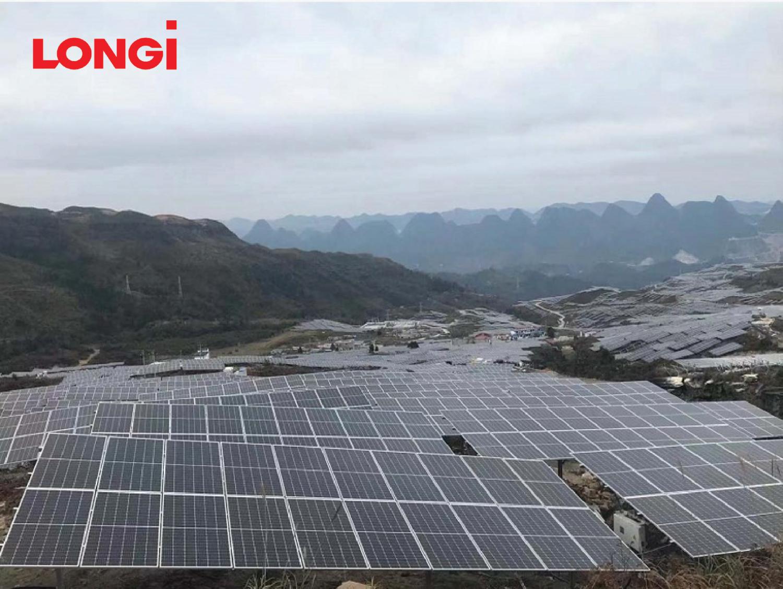 Mô-đun của LONGi được sử dụng tại nhà máy điện mặt trời công suất 105W tại tỉnh Quý Châu (Trung Quốc) đã tiết kiệm 6% chi phí lắp đặt cho chủ đầu tư