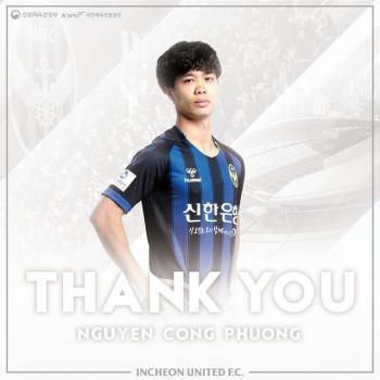 CLB Incheon United nói lời tạm biệt Công Phượng