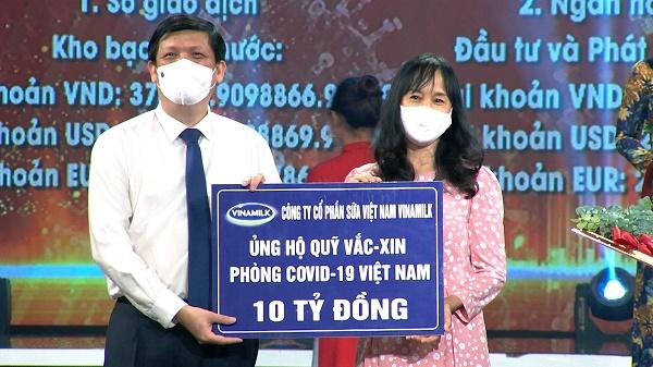 Vinamilk ủng hộ 10 tỉ đồng vào Quỹ vaccine phòng COVID-19