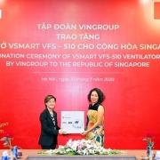 vingroup trao tang 1000 may tho cho nga ukraine va singapore