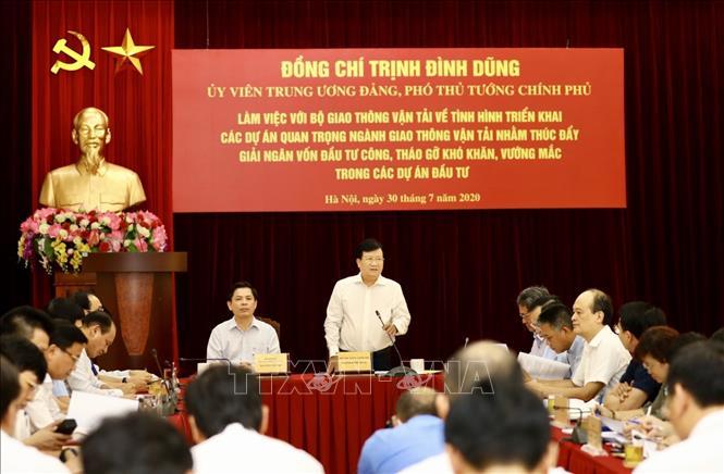 Phó Thủ tướng Trịnh Đình Dũng: Tuyệt đối không để tình trạng có tiền mà không tiêu được