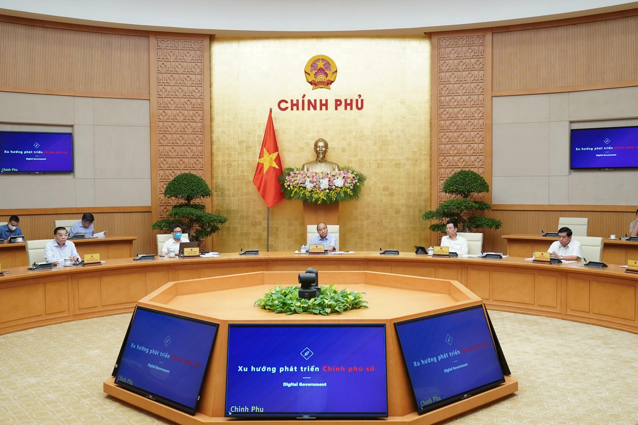 thu tuong chu tri hoi nghi truc tuyen ve chinh phu dien tu