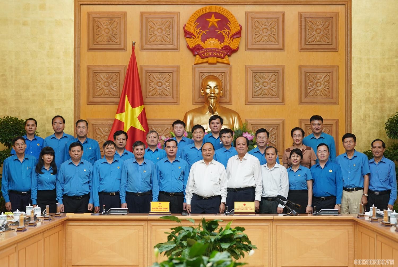 thu tuong chinh phu lam viec voi doan chu tich tong lien doan lao dong viet nam
