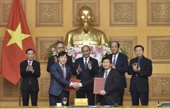 Thủ tướng Chính phủ Nguyễn Xuân Phúc làm việc, toạ đàm với các DN Nhật Bản