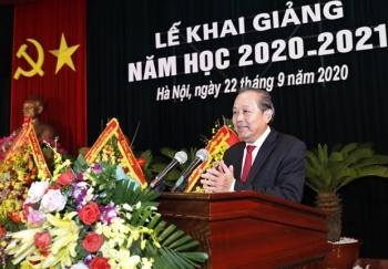 Phó Thủ tướng Trương Hòa Bình dự lễ khai giảng của Học viện Quốc phòng