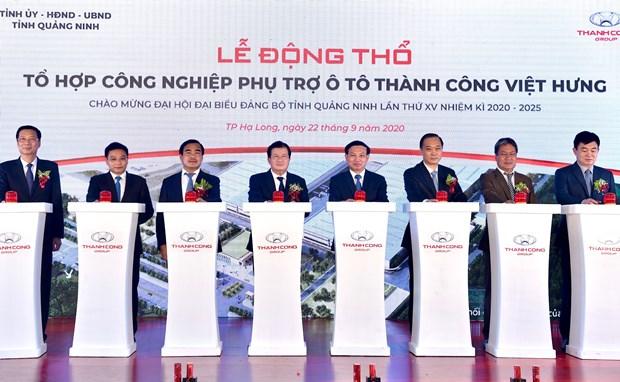 Phó Thủ tướng Trịnh Đình Dũng dự lễ khởi động Tổ hợp công nghiệp phụ trợ ô tô Thành Công Việt Hưng