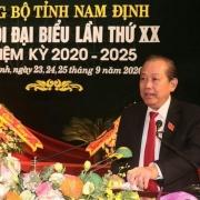 Phó Thủ tướng Trương Hòa Bình chỉ đạo Đại hội Đảng bộ tỉnh Nam Định