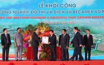 Phó Thủ tướng Trương Hòa Bình dự lễ khởi công Khu công nghiệp-đô thị-dịch vụ Becamex VSIP Bình Định