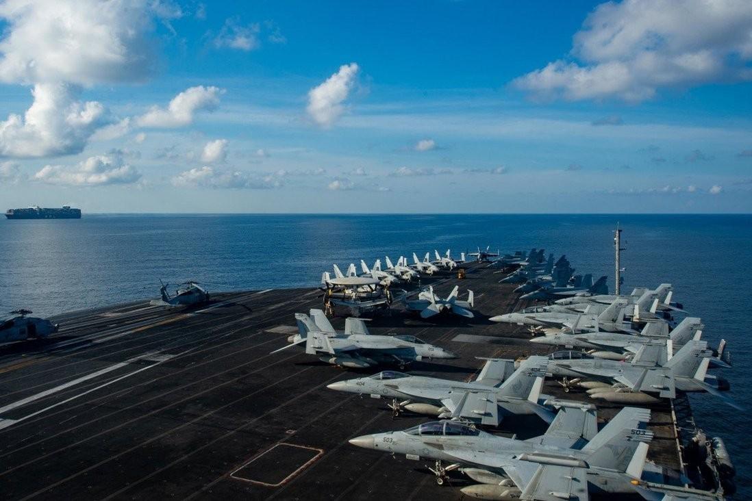 Mỹ điều nhóm tàu tác chiến sân bay USS Ronald Reagan đến Biển Đông lần thứ 2 trong năm nay