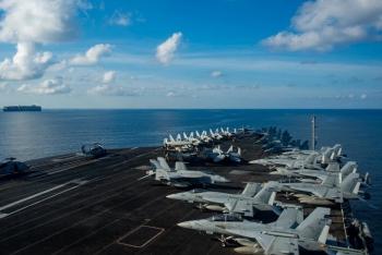 Mỹ điều nhóm tàu tác chiến sân bay USS Ronald Reagan đến Biển Đông lần thứ 2 trong năm