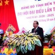 Phó Thủ tướng Thường trực dự Đại hội đại biểu Đảng bộ tỉnh Bến Tre