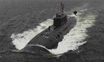 Tàu ngầm Nga tập trận phóng ngư lôi vào nhau