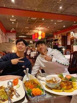 Sao Việt ngày 20/12: Gặp nhau ở Hà Lan, Văn Hậu dẫn Công Phượng đi ăn uống tưng bừng