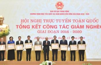 Thủ tướng Nguyễn Xuân Phúc chủ trì Hội nghị trực tuyến tổng kết công tác giảm nghèo
