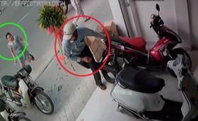 [VIDEO] Trộm ăn mặc lịch sự, chào hỏi mọi người trong khi phá khóa Air Blade
