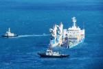 Tàu HQ 184 - Hải Phòng vào quân cảng Cam Ranh an toàn