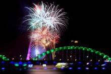 [Chùm ảnh] Rực rỡ pháo hoa chào năm mới ở Đà Nẵng