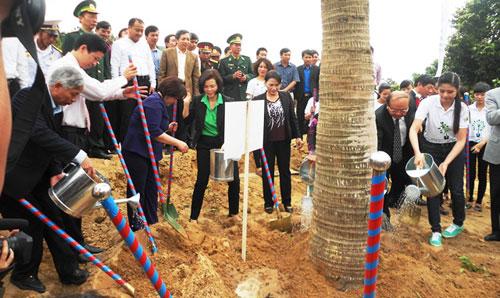 Quảng Bình: Trồng hơn 13.000 cây xanh tại khu mộ Đại tướng
