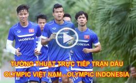 link xem truc tiep tran dau olympic viet nam olympic indonesia