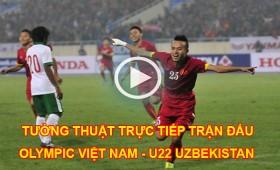 link xem truc tiep tran dau olympic viet nam u22 uzbekistan