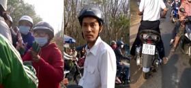 [VIDEO] Người dân bủa vây kẻ lạ mặt chặn xe 2 cô gái ở Đồng Nai