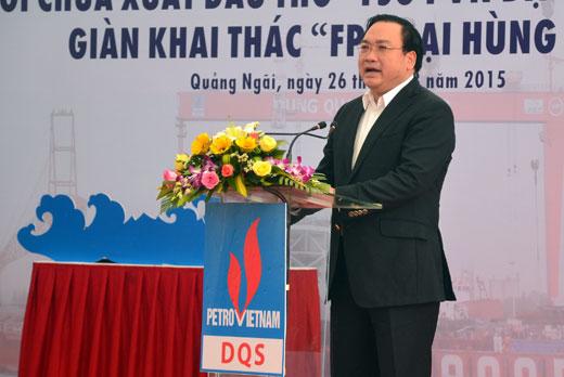 """Công ty Công nghiệp Tàu thuỷ Dung Quất: Khánh thành """"FSO PVN ĐẠI HÙNG QUEEN"""" và giàn khai thác """"FPU ĐẠI HÙNG – 01"""""""