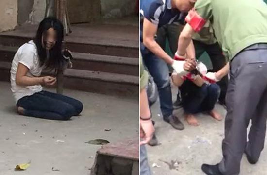 [VIDEO] Cô gái cầm kim tiêm tìm cách đâm liên tiếp các nam thanh niên ở Hà Nội