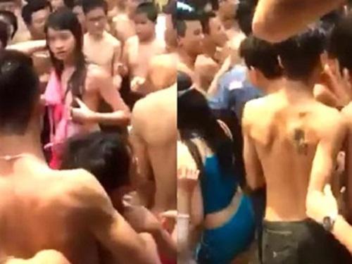[VIDEO] Hàng chục thanh niên bủa vây, sàm sỡ nhiều cô gái ở Công viên nước Hồ Tây