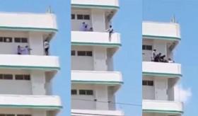 [VIDEO] Hồi hộp xem 3 người phụ nữ giải cứu gã đàn ông định nhảy lầu tự tử