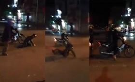 [VIDEO] Côn đồ no đòn vì gây sự nhầm bộ đội già ở Hà Nội