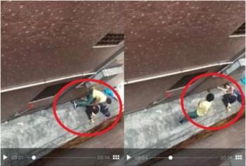 video dung dung quay phim co gai bi sat hai da man trong hem vang
