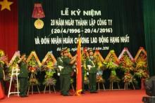 Công ty Xây lắp Thành An 96 đón nhận Huân chương Lao động Hạng nhất
