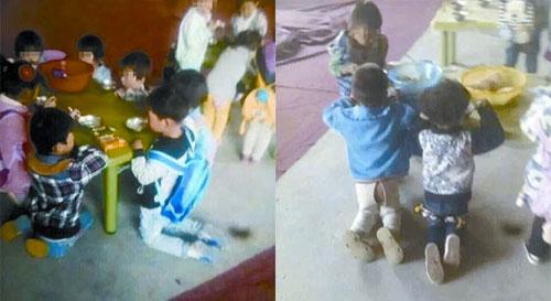 Trường mầm non bắt trẻ quỳ ăn cơm gây phẫn nộ