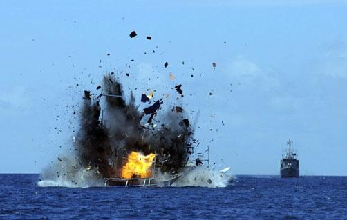 Indonesia đánh chìm 41 tàu cá nước ngoài