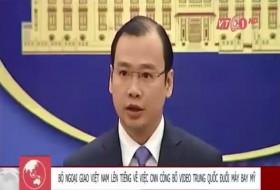 [VIDEO] Bộ Ngoại giao Việt Nam lên tiếng về việc CNN công bố video Trung Quốc đuổi máy bay Mỹ
