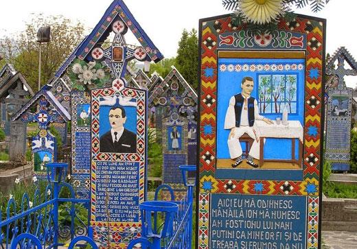 merry cemetery nghia trang vui ve o thi tran sapanta
