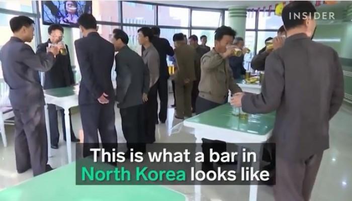 video ben trong mot quan bia noi tieng o trieu tien