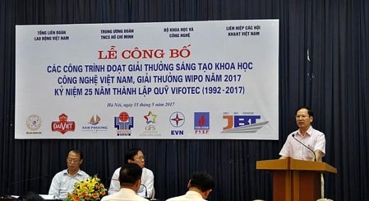 45 cong trinh doat giai thuong sang tao kh cn viet nam 2016