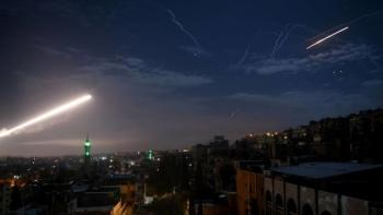 video syria ban ha ten lua tu israel trong dem