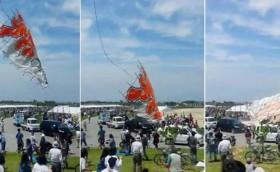 [VIDEO] Diều khổng lồ 700kg lao thẳng xuống đám đông ở Nhật Bản
