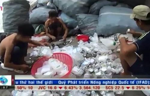 [VIDEO] Nguy cơ rác thải y tế bị tái chế trở thành đồ đựng thực phẩm