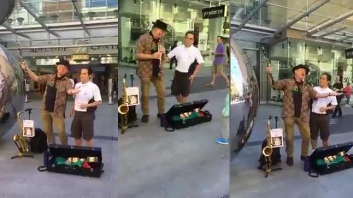 video hat mai khuc quan hanh vang len tren duong pho adelaide australia