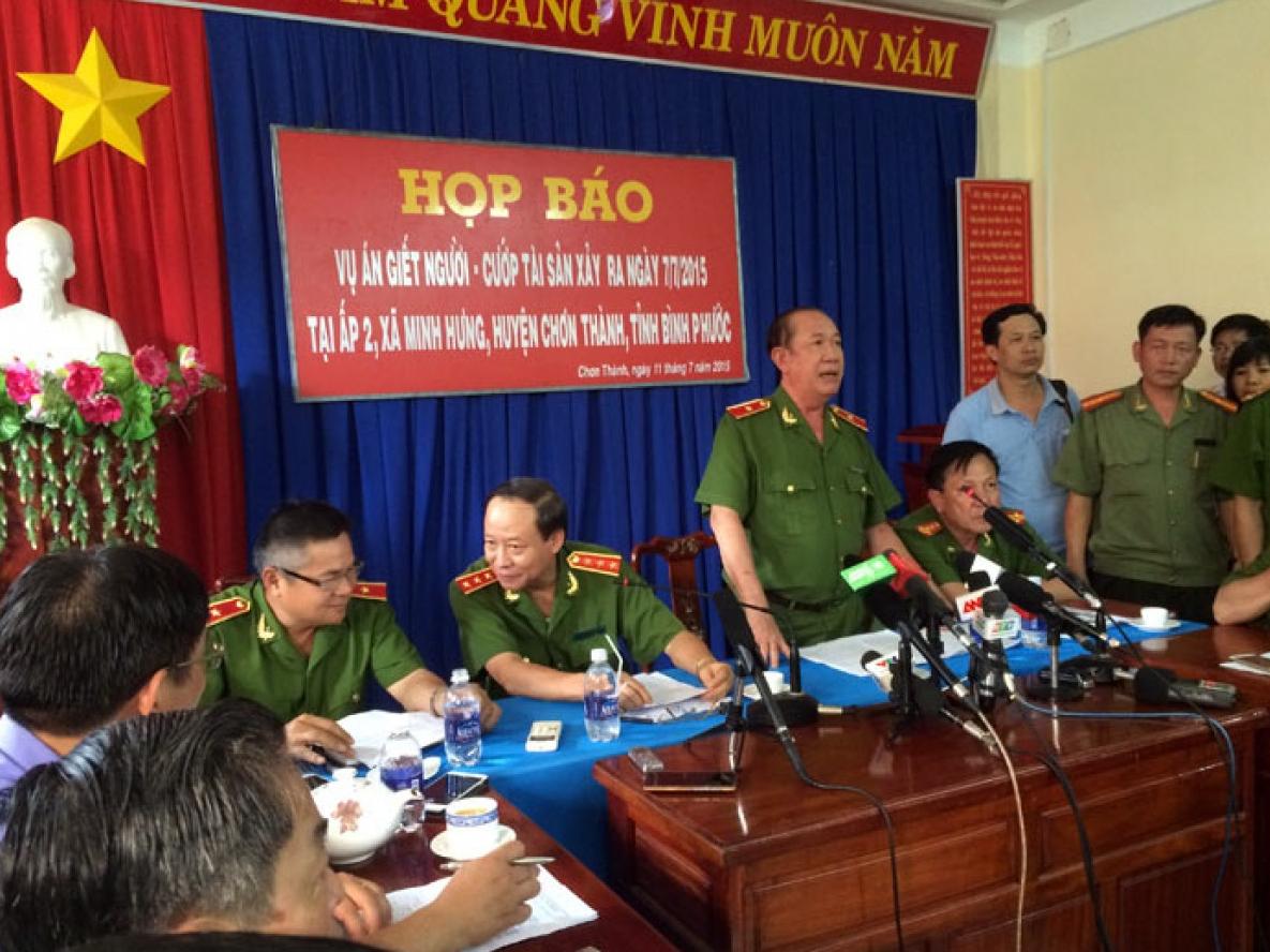 Công bố thông tin chính thức vụ thảm sát 6 người tại Bình Phước