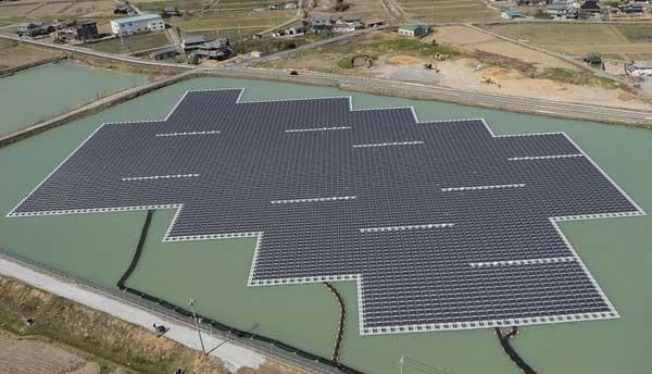 Nhà máy Điện mặt trời ở hồ Nishihira của Nhật Bản