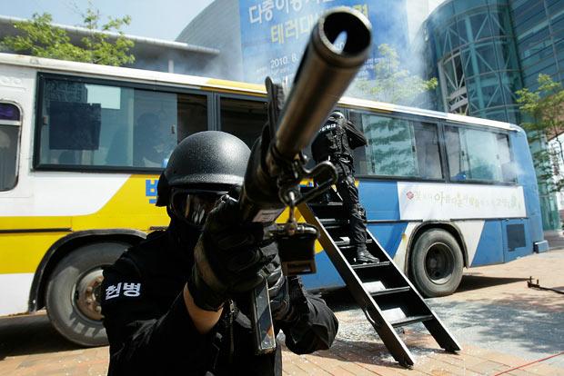 Hàn Quốc diễn tập chống khủng bố ở Seoul