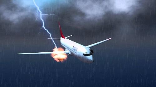 Máy bay có bị sét đánh?