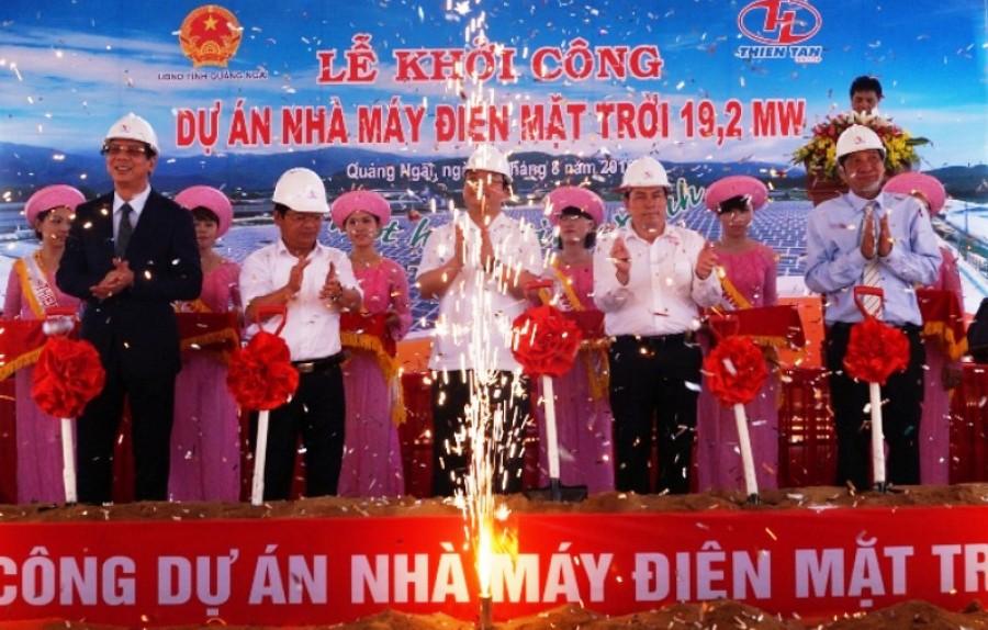 Quảng Ngãi: Khởi công Dự án nhà máy điện mặt trời