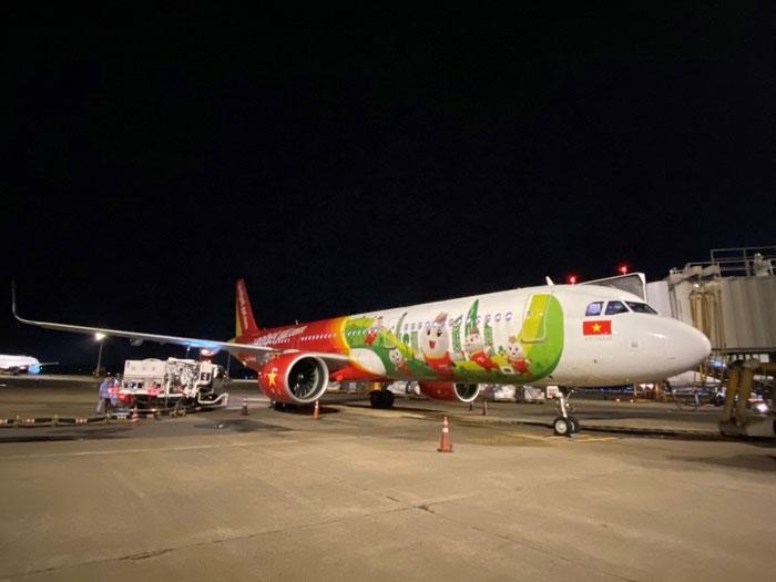 Trở lại bầu trời quốc tế, Vietjet thực hiện những chuyến bay thương mại đầu tiên tới Hàn Quốc