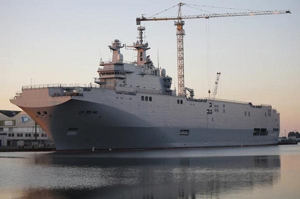 [VIDEO] Cận cảnh tàu chiến Pháp hoãn chuyển cho Nga